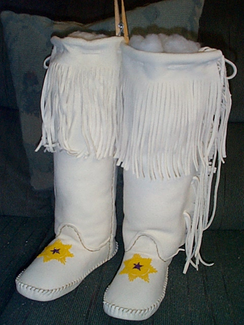 WHITE ELK SUEDE SUNSTAR TALL BOOT MOCCASINS